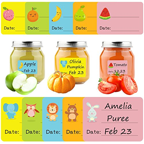 180 Ct Bottle (Baby Date Labels, Removable Write-On Labels for Baby Bottle, Food Storage Container, Freezer Tray & Reusable Pouch, Great for Daycare, Pack of 180)