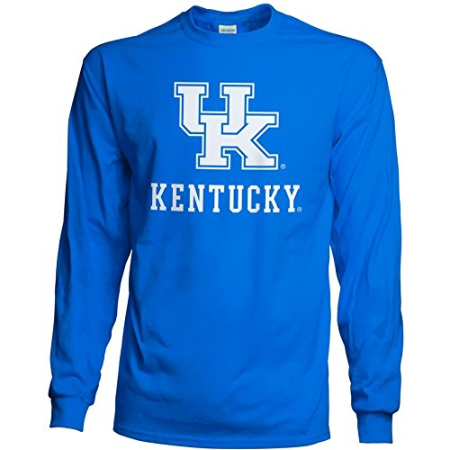 Men's Kentucky Wildcats Long Sleeve Shirt Team Color Arch Kentucky Wildcats Royal XX Large ()