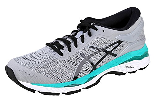 ASICS Women's Gel-Kayano 24 Running Shoe, Mid Grey/Black/Atlantis, 9 Medium US by ASICS