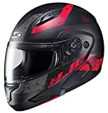 HJC Helmets Unisex-Adult Flip-Up-Helmet-Style CL-MAXBT 2 Friction Helmet (MC-1SF Black/Red, Medium)