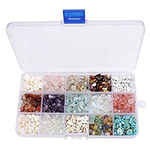 15 Style Assorted Chips Stone Crushed Chunked Crystal Pieces Irregular Shaped Loose Beads