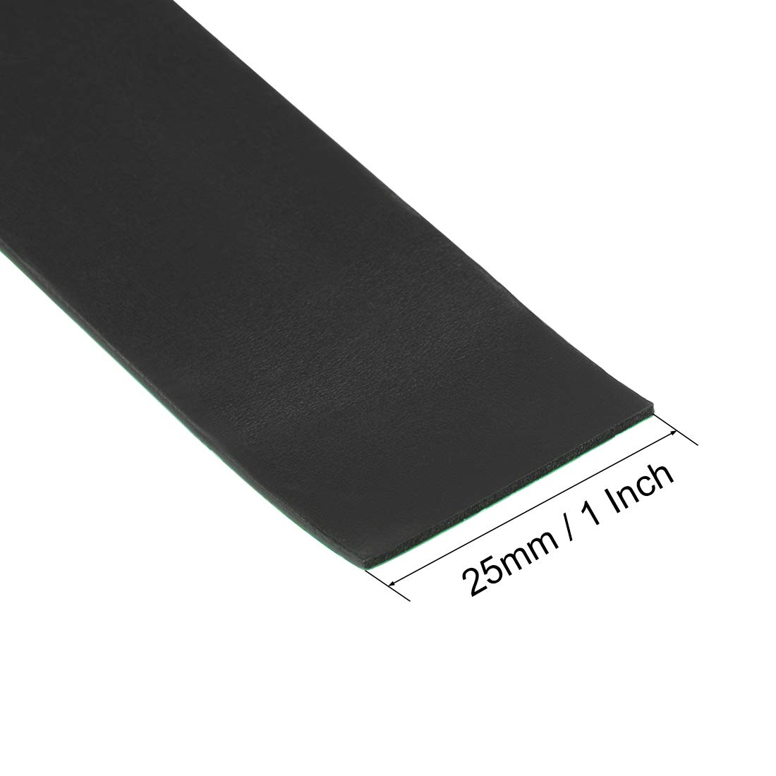 sourcing map 2 Pcs Dry Erase Flexible Magnetic Strip 1 Inch x 3.3 Feet Magnetical Sheet Labels Stickers Writable Black For Whiteboards Refrigerator and Crafts
