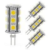 led bi pin bulbs - Reelco 4-Pack G4 Bi-pin Base LED Light Bulb 4W AC DC 12V Warm White 3000K Landscape lighting,Equivalent 30w T3 Halogen Bulb Non-dimmable