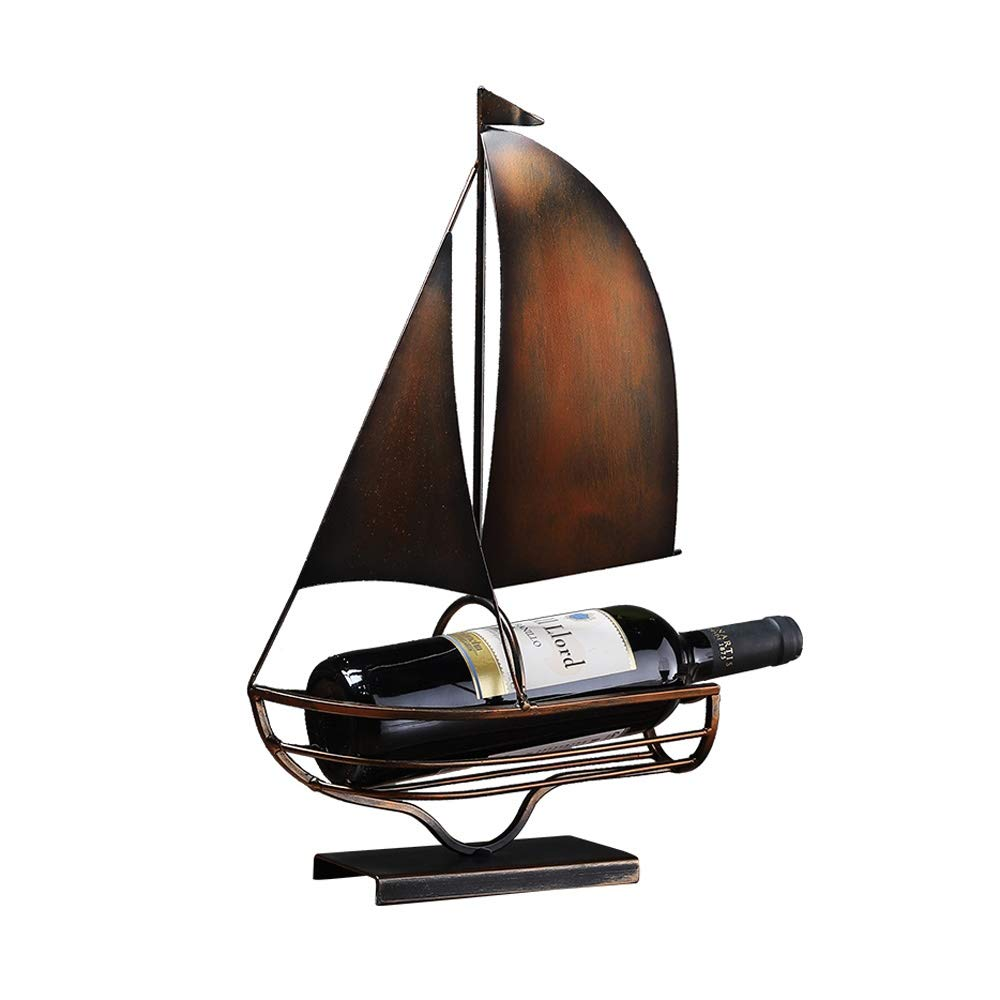 Size : B WEISHAA European Minimalist Living Room Wine Rack Wine Cabinet Decoration Ornaments Retro Home TV Cabinet Creative Crafts Sailing Small Furnishings Soft New Wine Rack Gift Ornaments