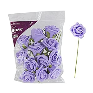 """Mega Crafts 3"""" Soft Touch Artificial Foam Flowers, Set of 12 