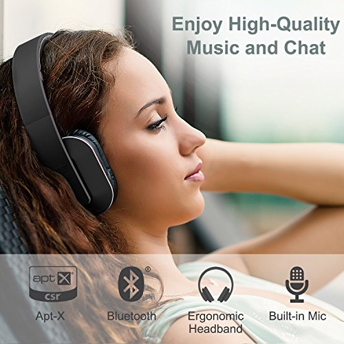 88c60607348 Over Ear Bluetooth Wireless Headphones - August EP650 - Enjoy Bass ...