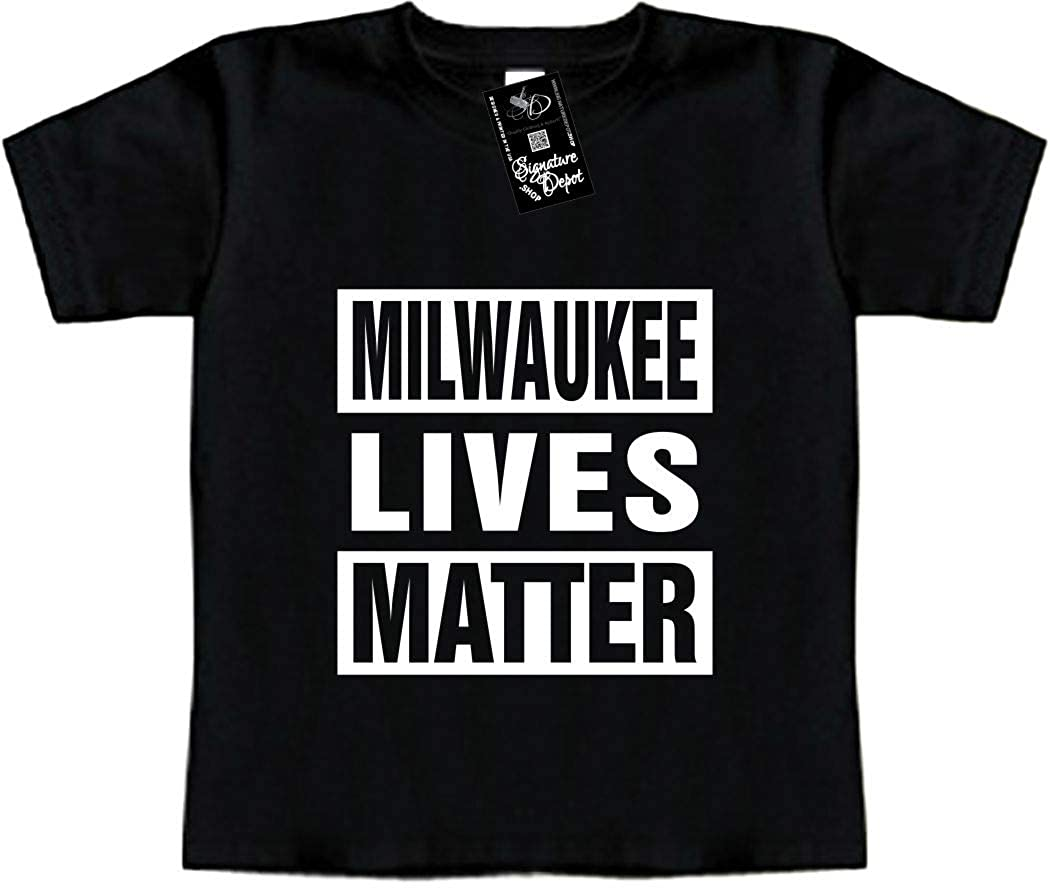 Toddler Tee Funny Baby T-Shirt Milwaukee Lives Matter Wisconsin