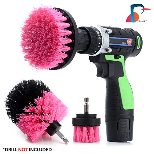 Drillbrush 3 Pc set- Brushze bathroom and kitchen cleaner, all purpose cleaner; grout, tile and hard surfaces