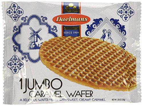 Daelmans Single Jumbo Caramel Wafers, 1.38-Ounce Box (Pack of 36)