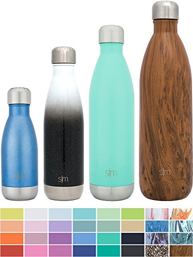 Simple Modern Stainless Steel Vacuum Insulated Double-Walled Wave Bottle, 9oz - Glacier Blue - Shimmering Collection