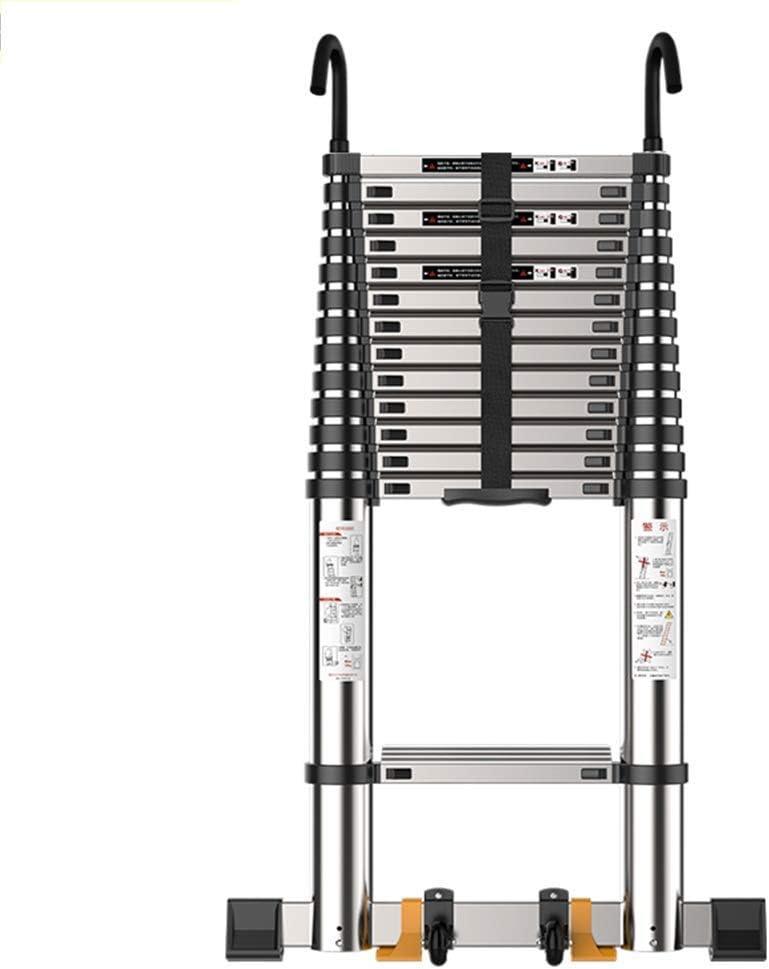 LXD Escalera, escalera de extensión, hogar plegable recta escalera se puede subir y bajar escaleras, Escalera mecánica Ingeniería-aluminio escalera con gancho,3.5m Straight escalera (11,48 pies): Amazon.es: Bricolaje y herramientas