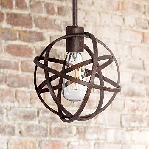 Industrial Atom 8'' Wide LED Edison Bulb Mini-Pendant Light - Franklin Iron Works by Franklin Iron Works (Image #6)