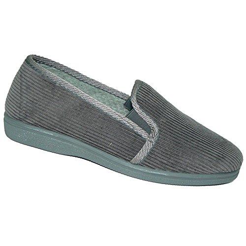 JAVER - Zapatillas de pana - Modelo 904 GRIS