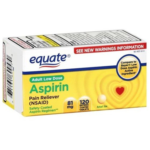 Equate - Aspirin 81 mg, Adult Low Strength Aspirin Regimen,