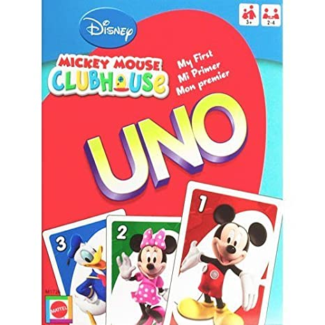 Uno Mickey Mouse Club House Mattel N5831 Disney Mickey Mouse Mejor