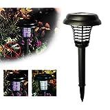 LtrottedJ Solar Powered LED Light Mosquito,Pest Bug Zapper Insect Killer Lamp Garden Lawn