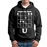 FDLB Men Guitar F Chord Camping Particular Hoodie Hooded Sweatshirt XXL Black
