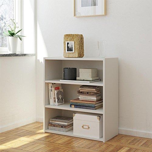 (RealRooms White Tally 3 Shelf Bookcase)