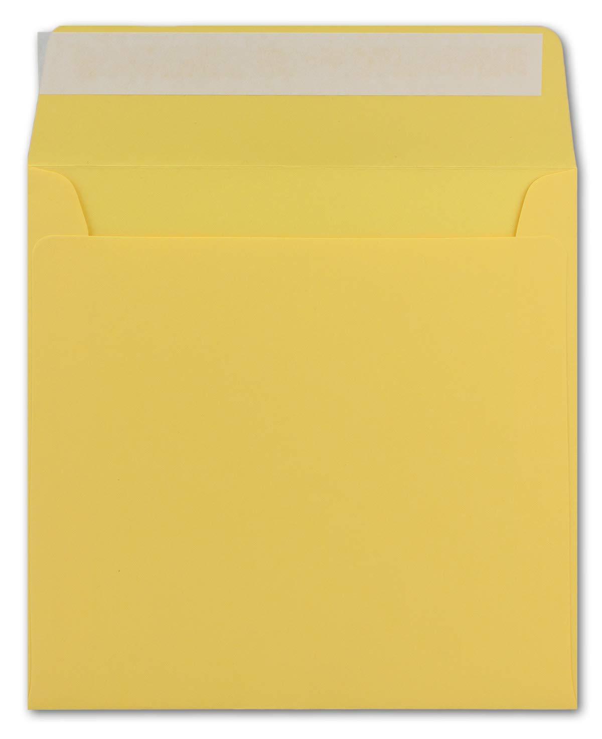 200 Quadratische Brief-Umschläge Honig-Gelb Honig-Gelb Honig-Gelb - 15,5 x 15,5 cm - 120 g m² Haftklebung stabile KuGrüns ohne Fenster - von Ihrem Glüxx-Agent B07GPLDWZK | Vielfältiges neues Design  | Fein Verarbeitet  | Wunderbar  2d851c