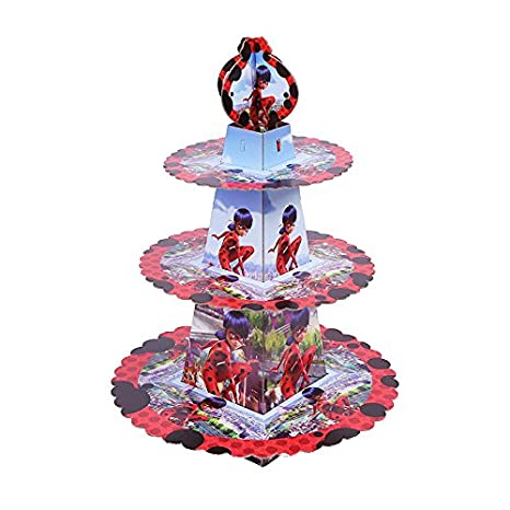 Amazon.com: 1SET Miraculous Ladybug Birthday Cake Rack ...