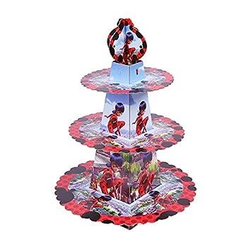 Amazon.com: 1SET Miraculous Ladybug Birthday Cake Rack ...