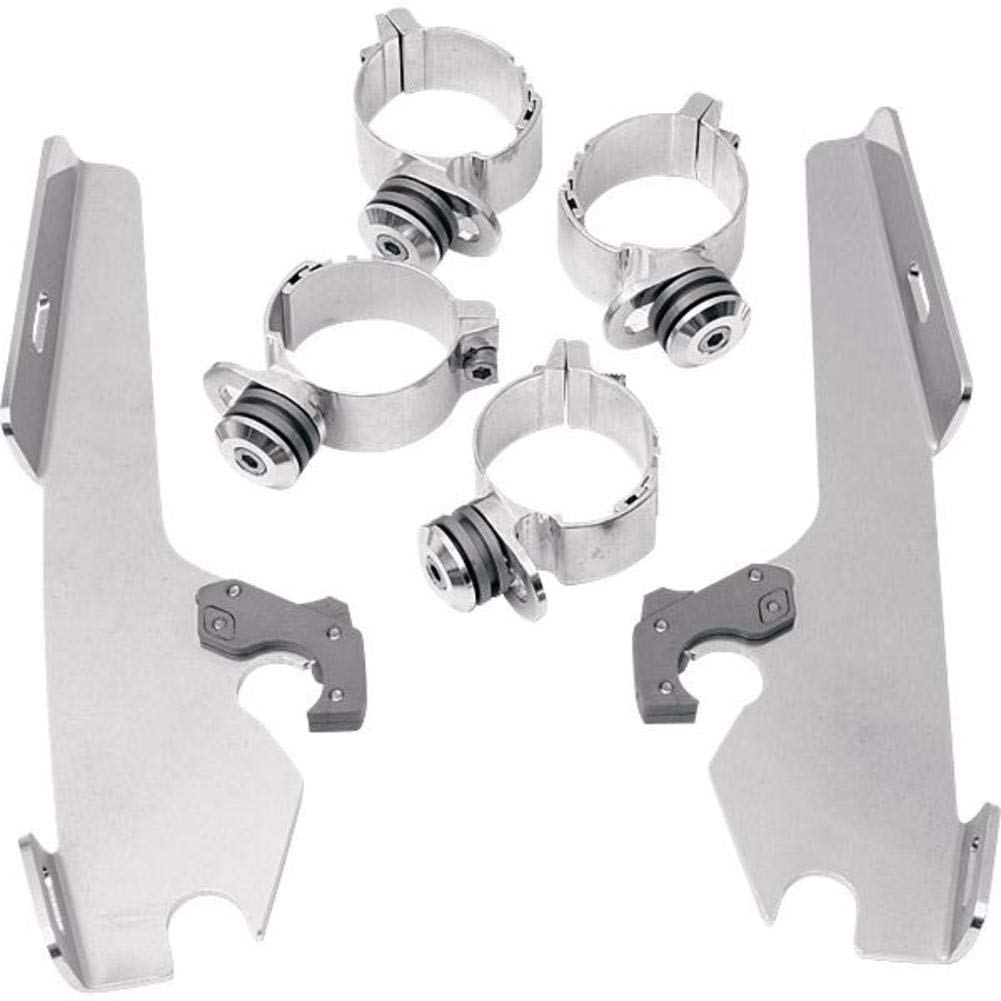 Memphis Shades MEK1901 Polished Trigger-Lock Mount Kit fits Honda VTX1300R//S 2003-2009