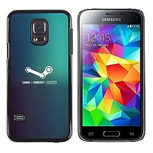 EJOY---Cubierta de la caja de protección la piel dura para el / Samsung Galaxy S5 Mini, SM-G800 / --Juegos de vapor