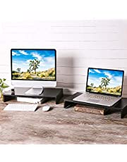 RFIVER Wood Monitor Stands Screen Riser for Computers, Laptops