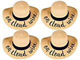 H-2017-BUNDLE-OCWx4 Embroidered Sun Hat 4 Pack - On Cloud Wine