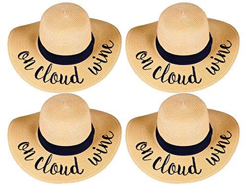 H-2017-BUNDLE-OCWx4 Embroidered Sun Hat 4 Pack - On Cloud Wine
