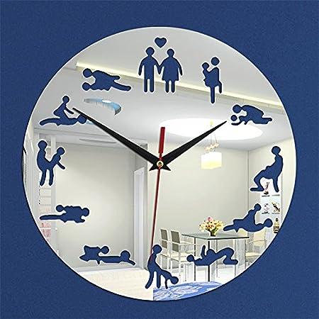 Reloj de pared diseño de amor decorativo mampara de tuercas acrílico: Amazon.es: Hogar