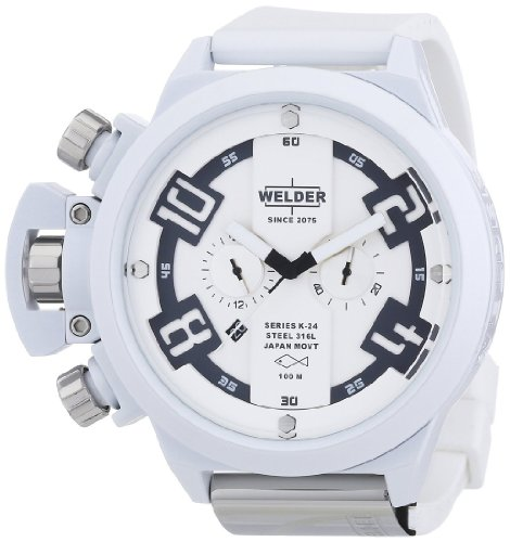 Welder by U-Boat K24 Oversize Chronograph White Ion-Plated Steel Mens Watch K24-3311