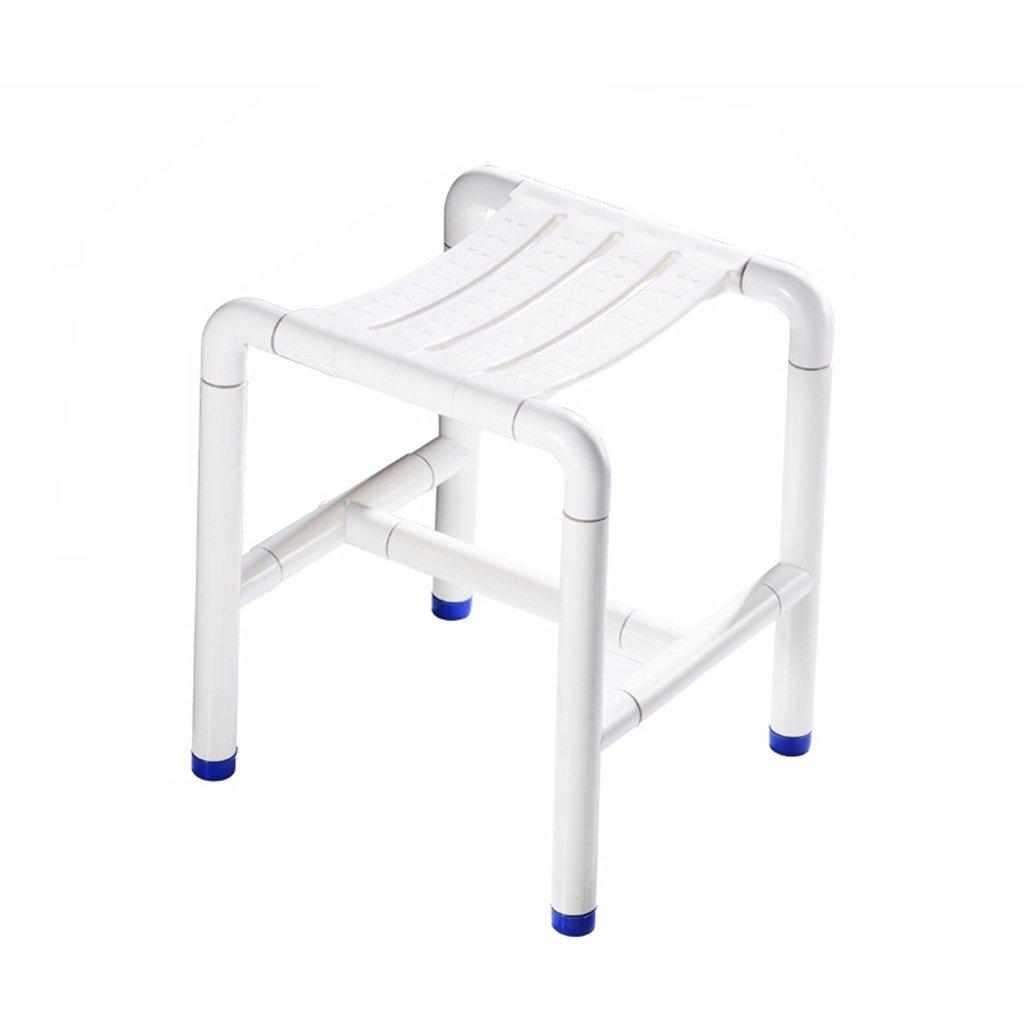 バススツールバスルーム使用不可高齢者トイレステンレススチールノンスリップシートシャワースツール (色 : 白) B07DFHZ1D2  白
