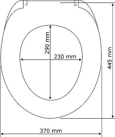 Bois 38,5x6,5x46,6 cm MDF Multicolore Wenko 21920100 Abattant WC 3D Coquille