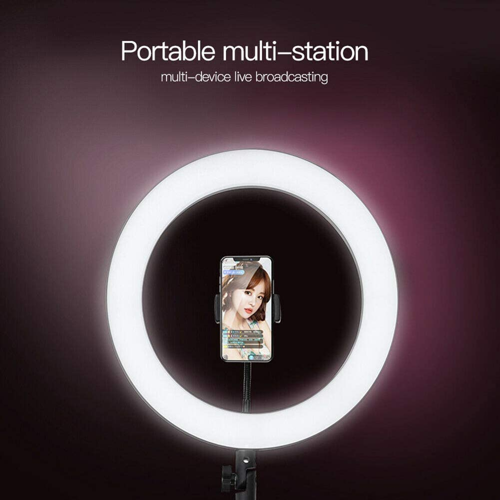 16cm LED Ring Light Lamp Selfie Camera Phone Studio Stand Video Dimmable Ring Light for Video Livestream Makeup Video Photography Acutty Ring Light with Stand Phone Holder