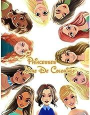 Princesses Livre De Coloriage: Livre de coloriage de princesses incroyable et chiffres de coloriage de fées pour les enfants de tous âges