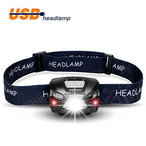 Led Spotlight Headlamp: LED Headlamp Flashlight Rechargeable Super Bright Head