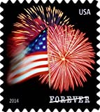 Office Products : USPS Forever Stamps, Star-Spangled Banner, Roll of 100 (Fireworks)