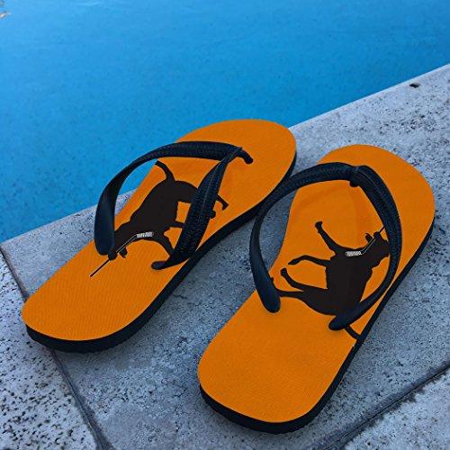 Flip Flops De Hockey Howe Le Chien De Hockey Orange