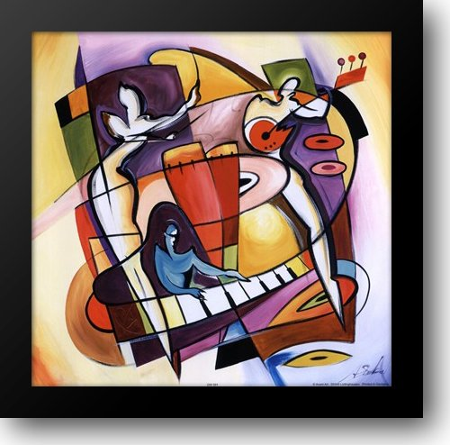 Stroking The Keys 14x14 Framed Art Print by Gockel, ()