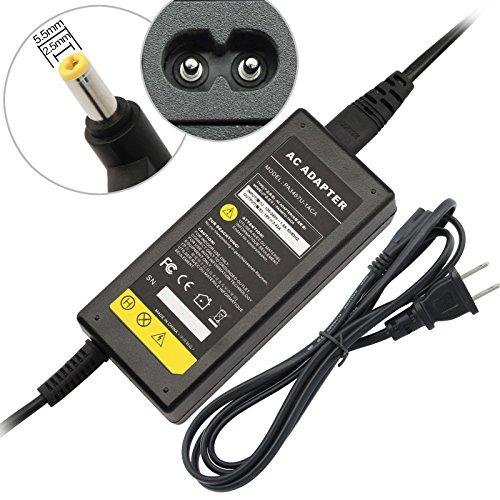 AC Power Adapter/Battery Charger for Toshiba Satellite A135-S4427 A135-S4666 L25-S1193 L25-S1194 L25-S1216 L35-S1054 L35-S2151 M115-S1061 M35X-S111 M35X-S149 P205 ()