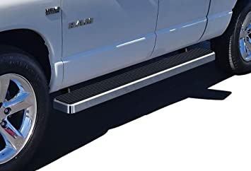 Ferreus Industries Grille Insert Guard Horizontal Flame Brushed Stainless fits 2013-2015 Dodge Ram 1500 TRK-163-05-Brushed-a