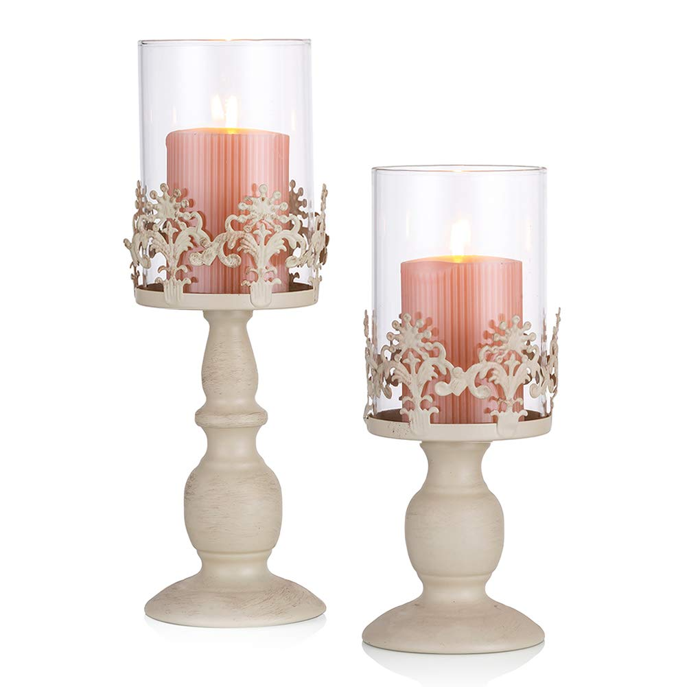 Sziqiqi 2 Pcs Vintage Pillar Holder Iron Tall Candle Holders Set Wedding Party Centrepiece Table Top Candlelight Decor S L Buy Online In Aruba At Aruba Desertcart Com Productid 98848406