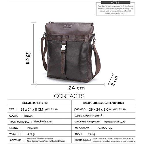 Brown Shoulder Men's Fashion Handbag Casual Haixin Leather Men tw0COqnFx