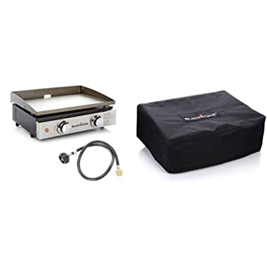 Blackstone Portable Outdoor 22  Table Top Gas Griddle & Griddle Cover NEW