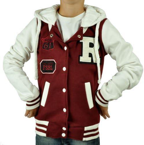 Kinder College Jacke Jungen Mädchen Baseball Gr. 122 128 134