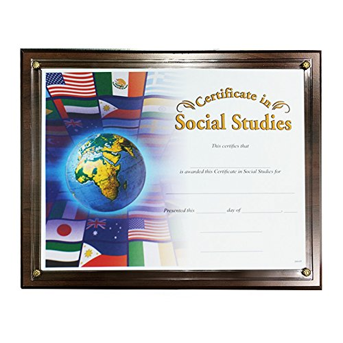 Certificate Plaque Board with Slide in Plexi Glass, Walnut Finished by Awards and Gifts R Us (Image #2)