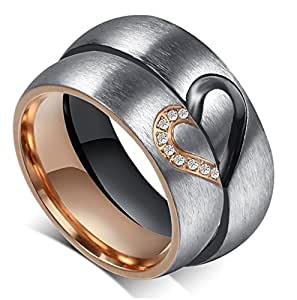 Amazoncom Aegean Jewelry Titanium Couple Fashion Wedding Band