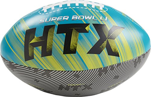 NFL Super Bowl LI 8 Inch Softee Football, (Teal Nfl Football)