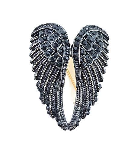 AZfasci Eagle Brooch Coat Fashion Elegant Love Party Thanksgiving Gift Pin Corsage (F Black)